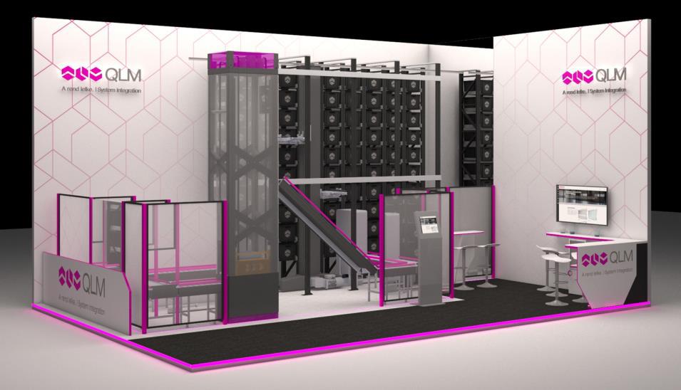 QLM Logimat stand design